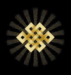 gold endless knot vector image