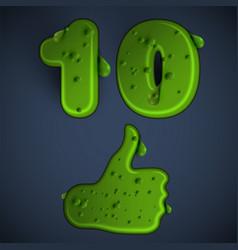 green slime like vector image