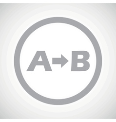 Grey A to B sign vector