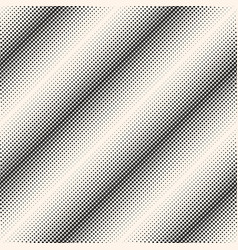 Halftone seamless pattern diagonal lines vector