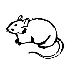 Hand sketch rat hand drawn mouse vector