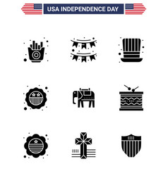 Happy independence day usa pack 9 creative vector