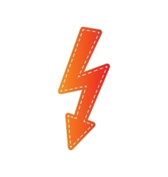 High voltage danger sign Orange applique isolated vector image