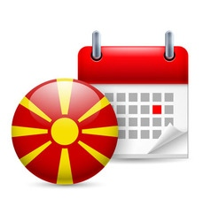 Icon of national day in macedonia vector image vector image