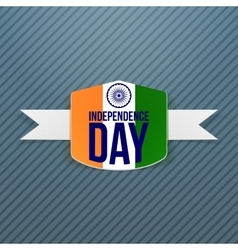 Indian Independence Day Badge with Shadow vector