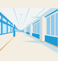 Interior of school hall in flat style vector