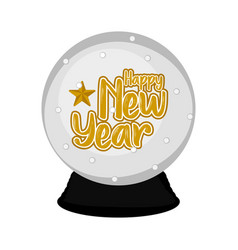 isolated crystal ball happy new year vector image