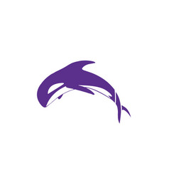 Jumping whale icon simple modern vector