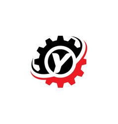 letter y gear logo design template vector image