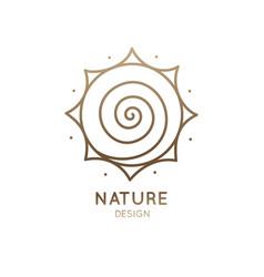Logo sun is spiral vector