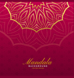 Luxury background with mandala art vector