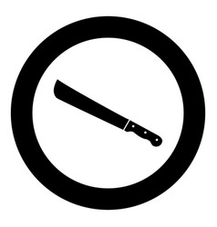 Machete or big knife black icon in circle vector
