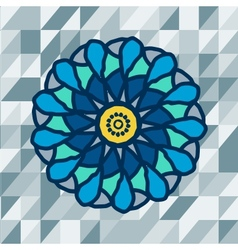 Mandala with text on blue background image vector