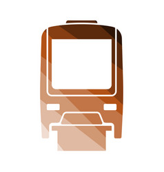 Monorail icon front view vector