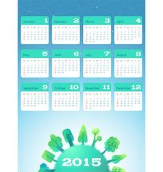 Nature calendar 2015 vector image