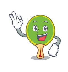 okay ping pong racket character cartoon vector image