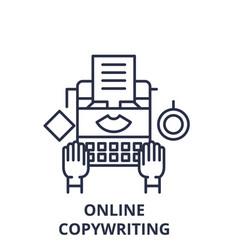 online copywriting line icon concept online vector image
