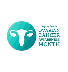 ovarian cancer awareness month template vector image