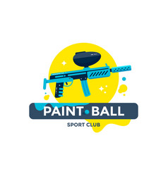 paintball sport club emblem or logo design vector image