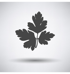 Parsley icon on gray background vector image