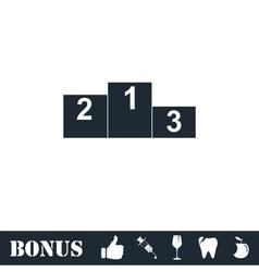 Podium icon flat vector