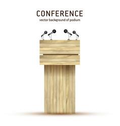 podium tribune wooden debate podium vector image