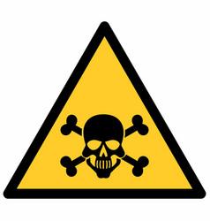 poison hazard sign vector image
