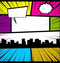 pop art comic book colored backdrop vector image