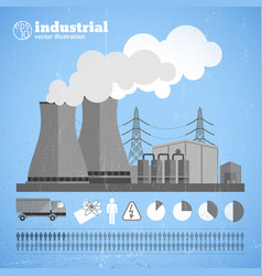 Production chemical plant template vector