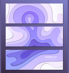 Purple abstract layout - set of modern colorful vector