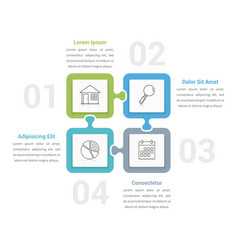 puzzle infographics vector image