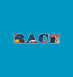 Race concept word art vector