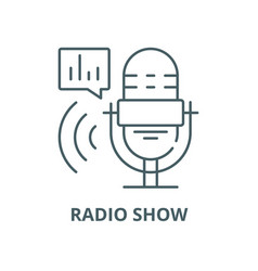 radio show line icon linear concept vector image