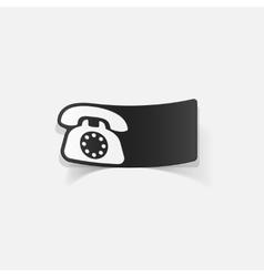 Realistic design element telephone vector