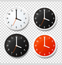 realistic detailed 3d clock template on a vector image