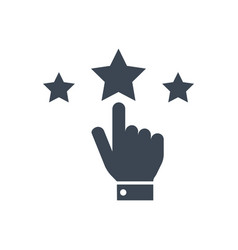 reputation glyph icon vector image