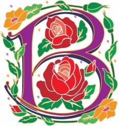 Rosette letter B vector