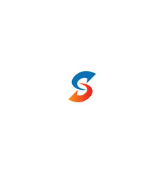 s circle arrow company logo vector image