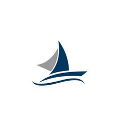 Sailing ship sailing boat sail ship logo vector