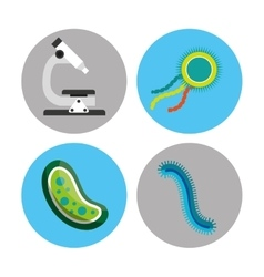 Scientific laboratory bacteria vector