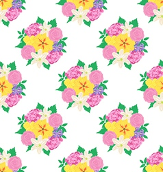 Seamless hand drawn flower pattern vector