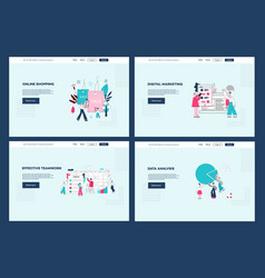 set of web pages templates in vector image