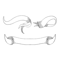 Sketch banners vector image