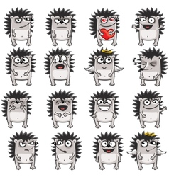 Smiley hedgehogs vector