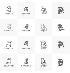 spartan sparta logo helmet logo design vector image