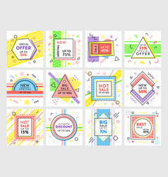 special offers hot sales with price reduction set vector image