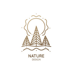 Spruce forest logo vector