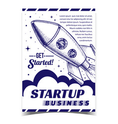 startup business cosmic advertising banner vector image
