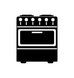 Stove icon Flat design vector image