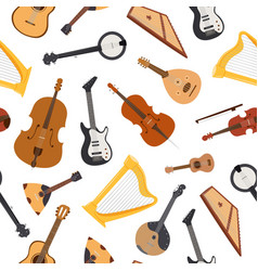 stringed musical instrument with strings vector image